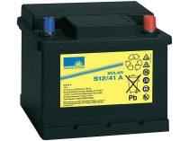 Napelem S12 12V / 41Ah ólom akkumulátor, napelemes töltésre optimalizálva