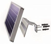 Napelem tartó fali konzol kisméretű napelemek számára 20W teljesítményig