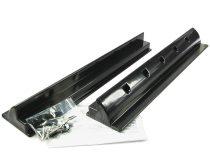 Napelem tartó műanyag sín 55 cm fekete - lakókocsi, lakóautó, hajó tetejére rögzítéshez
