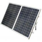 Hordozható napelem kinyitható összecsukható napelemes táska 12V 150W polikristály