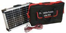 Hordozható napelem táska 12V 60W monokristályos mobil napelem koffer