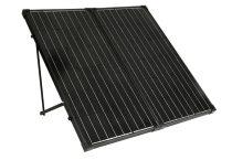 Hordozható napelem táska 12V 60W monokristályos mobil napelem koffer fekete