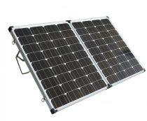 Hordozható napelem kinyitható összecsukható napelemes táska 12V 150W monokristály