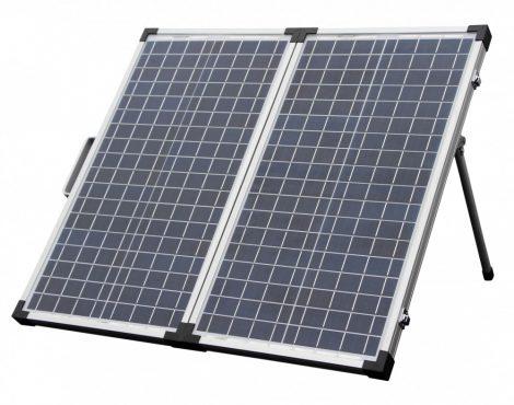 Hordozható napelem táska 12V 50W poliokristályos mobil napelem koffer