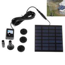 Napelemes szökőkút 150 liter/óra 50 cm magasság napelemel 7V 140mA halastó kerti tó levegőztető