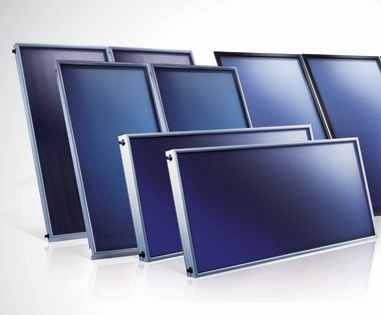 Prémium síkkollektor Solar Keymark tanúsítvány kék szelektív bevonat napenergia hasznosítására