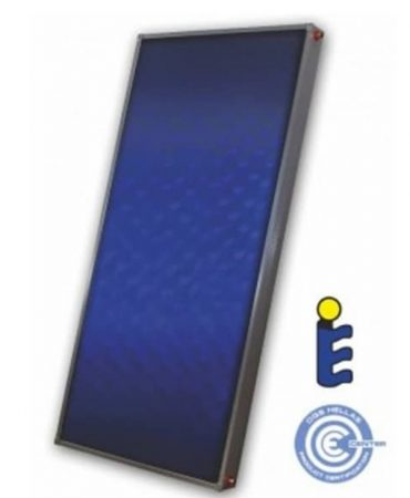 Extra nagy Sunsystem napkollektor 2,4 m2  kék abszorberes rézcsöves síkkollektor extra szigeteléssel