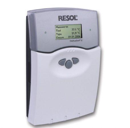 Napkollektor vezérlés RESOL_Deltasol E 6 db PT1000 érzékelővel Hőmérséklet különbség szabályozó