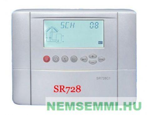 Napkollektor vezérlés SR728C1 szolár szabályzó vezérlő kontroller 5 db érzékelővel