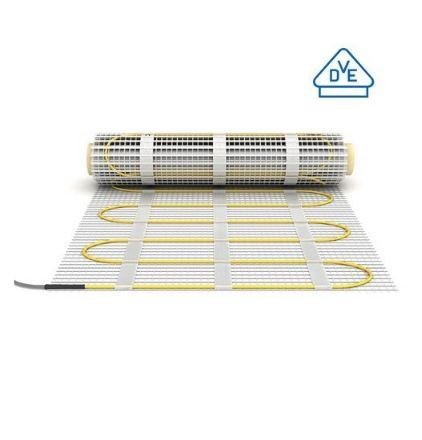 Elektromos padlófűtés 3 mm átmérőjű fűtőkábellel szerelt fűtőszőnyeg 160 W/m² 1,0-12,0 m²