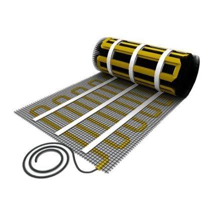Elektromos padlófűtés lapos fűtőkábellel szerelt öntapadó üvegszálas hálós fűtésszőnyeg 150 watt/m²