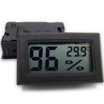 Digitális hőmérséklet és páratartalom mérő, beépíthető kivitel