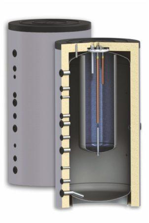 600 literes puffer-tarolo-tartaly a tartalyban hőcserélő nélkül