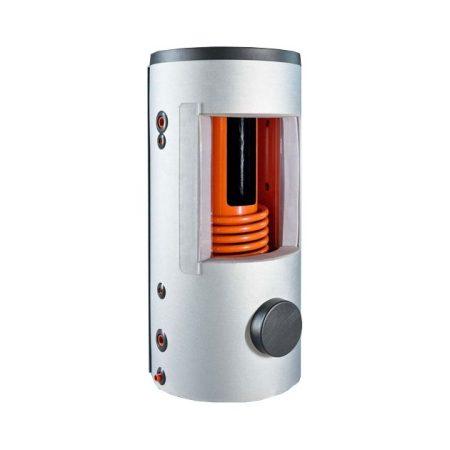 500 literes puffer-tarolo-tartaly a tartalyban hőcserélő nélkül 200 liters HMV tartály beépítve