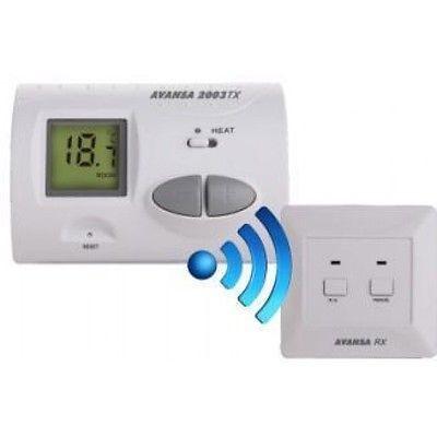 Rádiós termosztát AVANSA 2007 TX vezeték nélküli szobatermosztát digitális kijelző, nem programozhat
