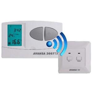 Rádiós termosztát AVANSA 2007 vezeték nélküli szobatermosztát digitális kijelző, heti programozás fű