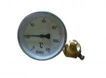 Kontakt hőmérő -  a tartozék hüvely 1/2 zoll menetbe becsavarozható es abba is behelyezhető