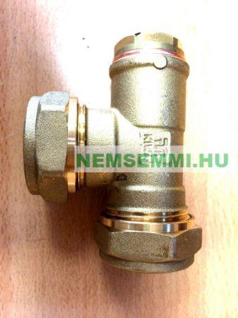 Kézi légtelenítő szelep szolár rendszerhez tiszta rézből, 22 mm-es roppantós és 1/2