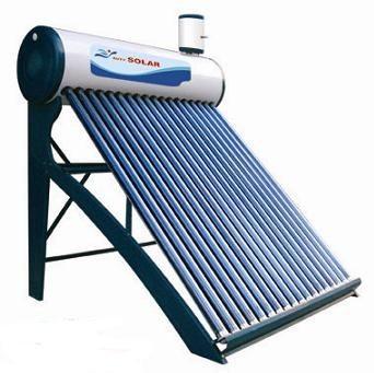 Napkollektor kedvező áru 12 csöves 120 l tartályos napkollektor hosszú, vastag csövekkel, rozsdamentes anyagból!