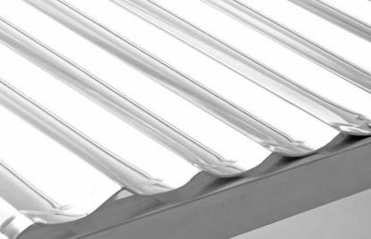 CPC hőtükör 20 vákuumcsöves napkollektorhoz, rozsdamentes acél, ívelt hűtükör