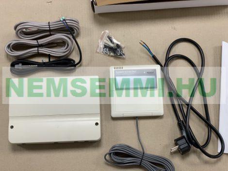 Napkollektor vezérlés SR868 2 szivattyú, 1 motoros szelep, fűtés kapcsolása, 2000 W fűtés