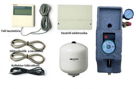 Napkollektor vezérlés kontroller és szivattyú csoport