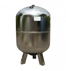 Saválló acél hidrofor tartály 100 liter álló inox rozsdamentes membrános zárt rendszerű használati