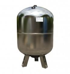 Saválló acél hidrofor tartály 80 liter álló inox rozsdamentes membrános zárt rendszerű használati