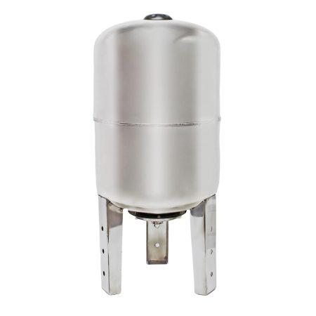 Rozsdamentes tágulási tartály 50 liter álló inox saválló hidrofor EPDM membrán
