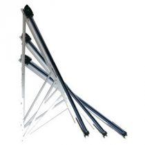 30° és 65° között állítható dőlésszögű tartókerettel 20 csöves vakuumcsöves Heat Pipe napkollektor.