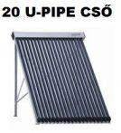 Napkollektor U-csöves 20 csöves vákumcsöves U-Pipe ferde tetős tartókerettel!