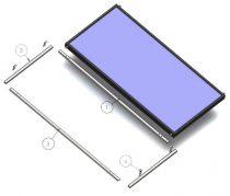 tartókeret szerelőkeret 9,5 cm-es napkollektorhoz síkkollektor ferde tető
