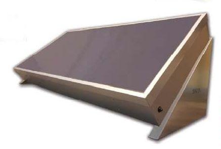 Kompakt tartályos síkkollektor hőszigetelt üveggel 150 literes tartállyal, hőcserélővel