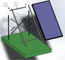 napkollektor tartókeret lapos tetős vagy talajra