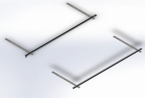 nagyméretű sík napkollektor rögzítő készlet ferde tető