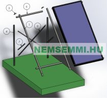 napkollektor szerelőkeret lapos tetőre vagy talajra