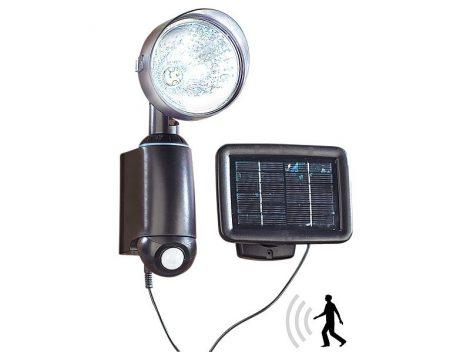 Napelemes reflektor lámpa rendkívül fényes 1W-os LED-del és PIR mozgásérzékelővel