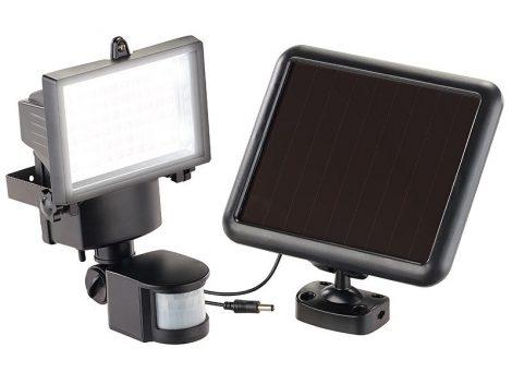 Napelemes LED kültéri reflektor, mozgásérzékelővel 600 lumen, IP44