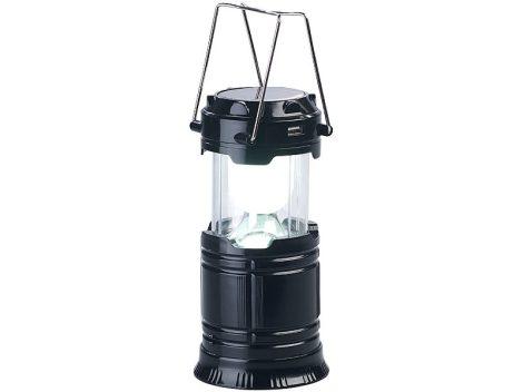 CL-86 Napelemes LED kempinglámpa, kézilámpa és USB vészhelyzeti töltő, 80 lumen