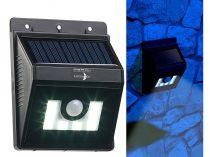 WL-180 Napelemes LED fali lámpa mozgásérzékelővel, fényerő-szabályozó funkcióval 180 lm IP44