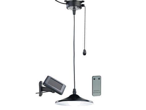 Napelemes LED függőlámpa húzózsinórral és távirányítóval 40 lumen, IP44