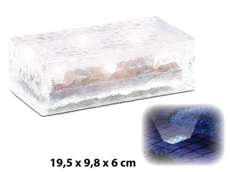 Szolár LED-es térkő 4 db fényérzékelővel 19,5 x 9,8 x 6 cm