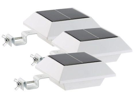 Napelemes LED reflektor 160 lm 2W PIR-érzékelő fehér 3-as készlet