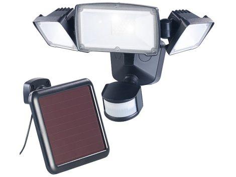 Napelemes LED-es reflektor kültéri, PIR érzékelő 32W 1500 lumen IP44