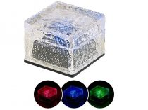 Napelemes RGB LED térkő szürkületérzékelővel, 7x5,4x7 cm IP44