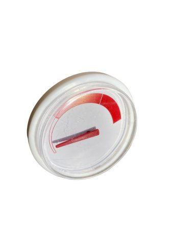 Sunsytem bojlerbe analóg hőmérő 33 mm hosszú hüvelyhez. A HMV tartály palástjára helyezhető a hőmérő