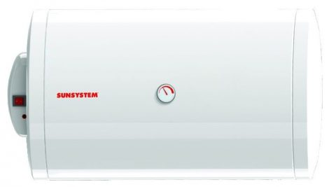 Fekvő 120 literes melegvíz tároló Vízszintes fali bojler HMV 2kW fűtőbetét