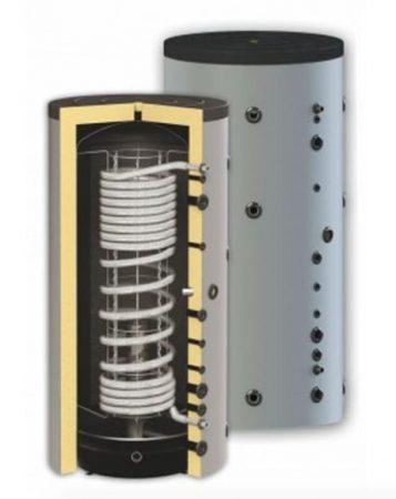 Puffer tartál 1 inox hőcserélővel 1000 literes tartály hőszigetelt.