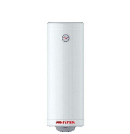 SunSystem 50 literes helytakarékos villanybojler keskeny bojler üvegkerámia bevonat 2kW fűtőbetét cs