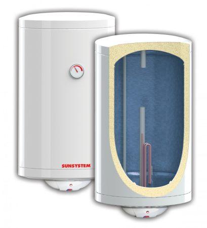 80 literes SunSystem melegvíz tároló bojler beépített 3kW fűtőbetéttel. Használati melegvíz t
